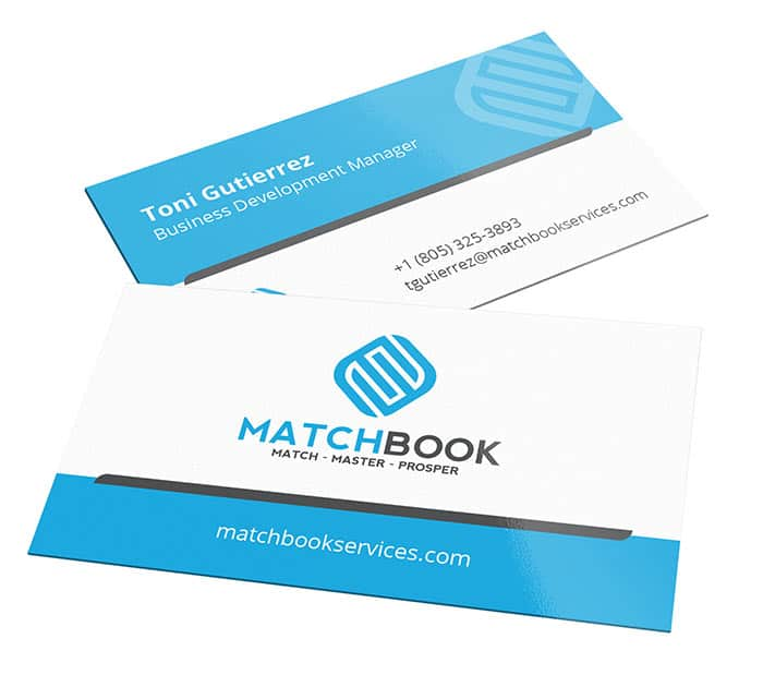 Matchbook business cards